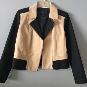 Two tone short jacket.